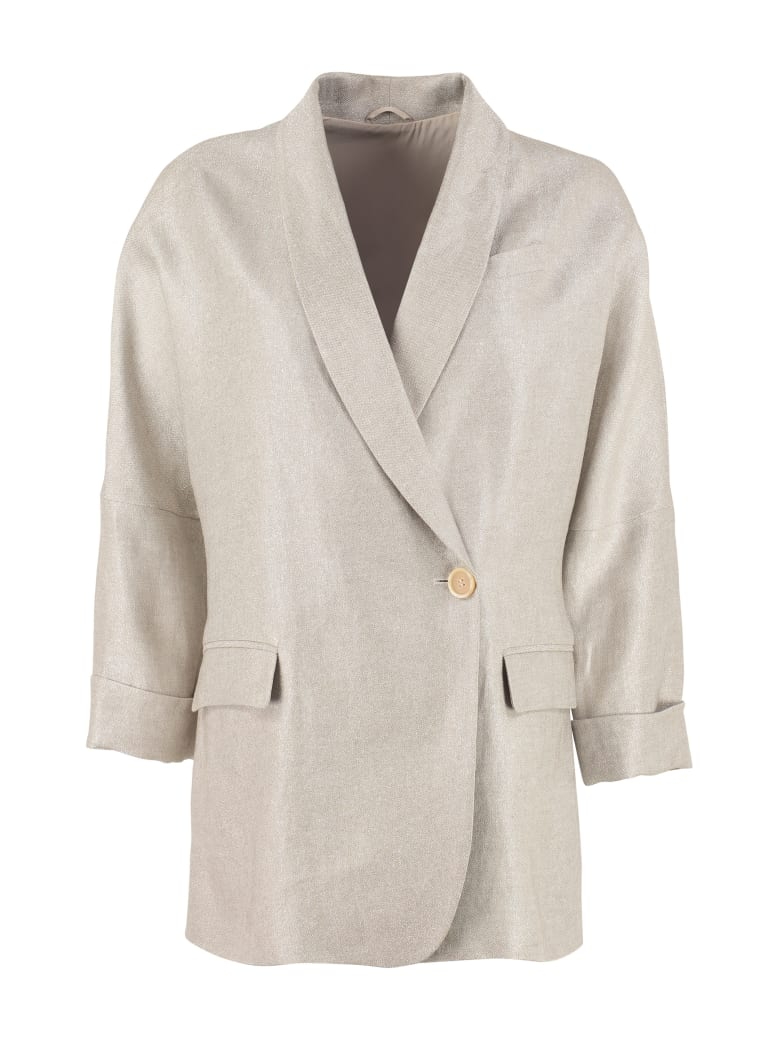 Brunello Cucinelli Single-breasted One Button Jacket - Ivory