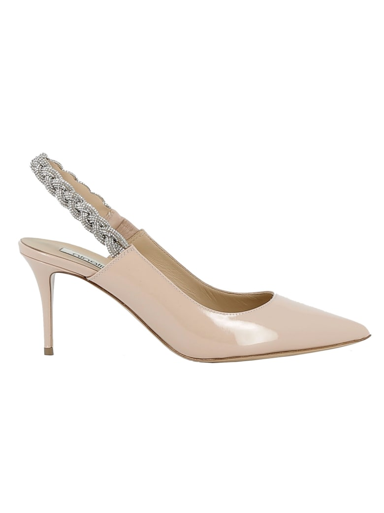 Ninalilou Beige/strass Patent Leather Sandals - BEIGE
