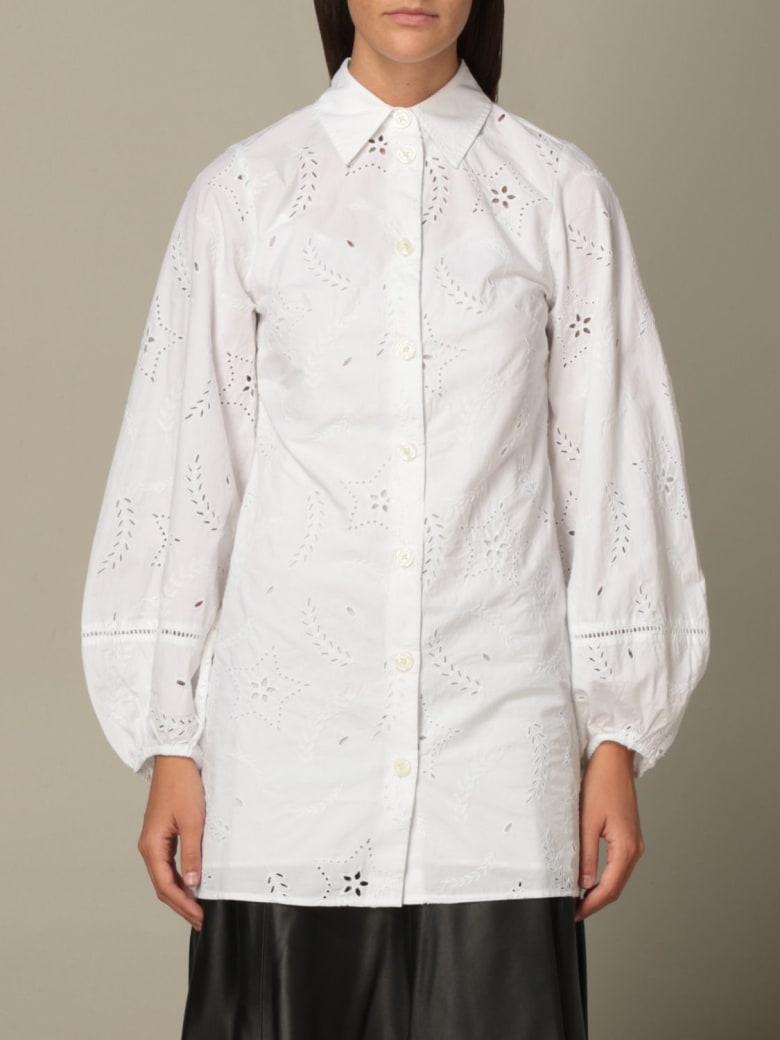 Hilfiger Denim Hilfiger Collection Dress Hcw Cutwork & Emb Shirt Dress - White