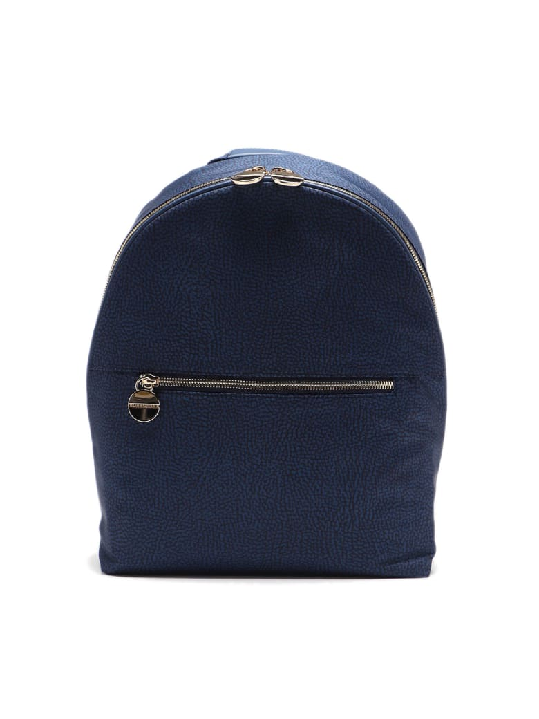 Borbonese Backpack Medium - Blu