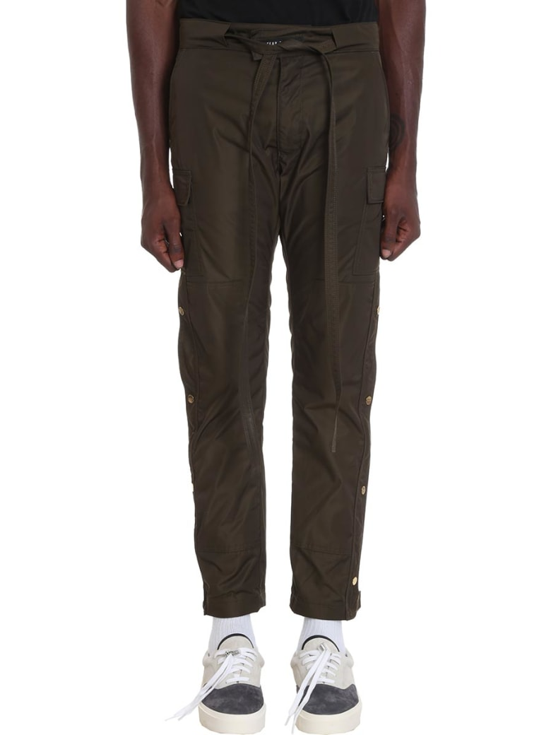 search for latest convenience goods find workmanship Best price on the market at italist | Fear of God Fear of God Nylon Cargo  Pants In Green Nylon