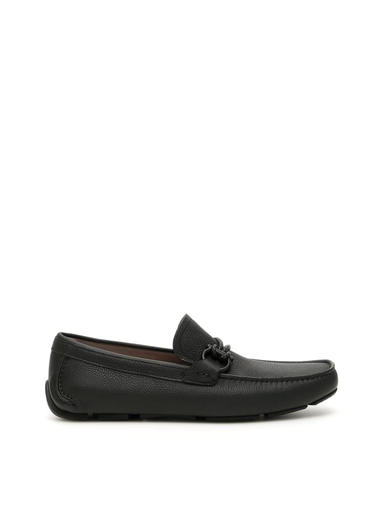 Salvatore Ferragamo Front 4 Driving Shoes - NERO (Black)
