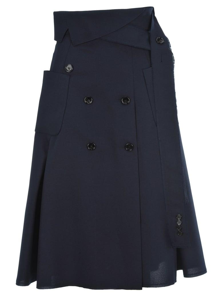 Golden Goose Button Trench Skirt - NAVY