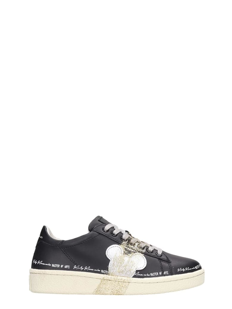 M.O.A. master of arts Sneakers In Black Leather - black