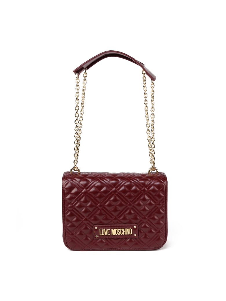 Love Moschino Love Moschino Quilted Ecoleather Bag - Bordeaux