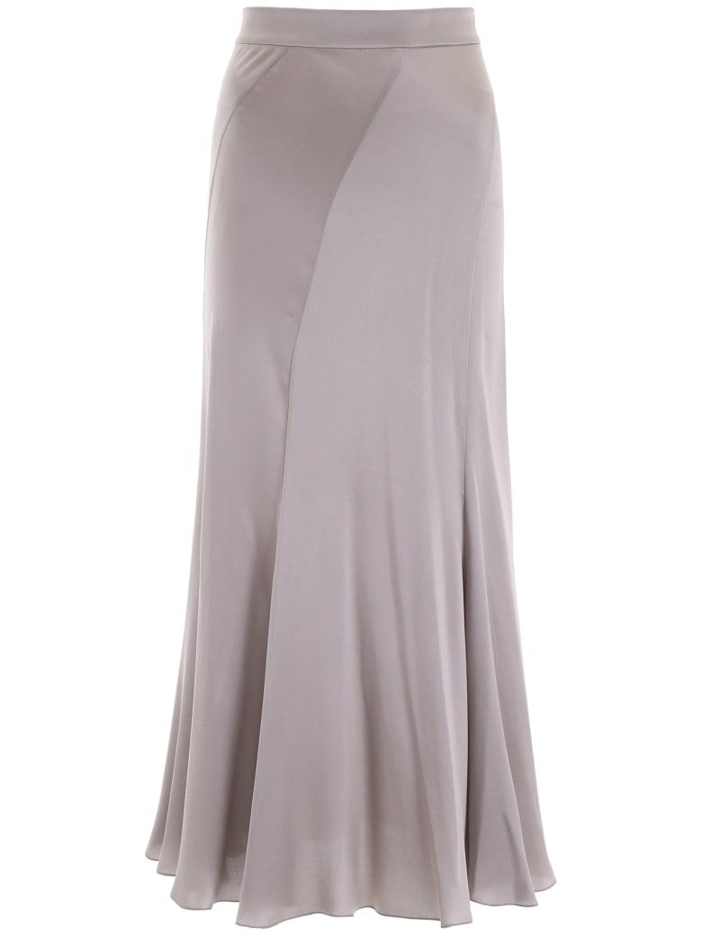 Alberta Ferretti Silk Satin Skirt - GREY (Grey)