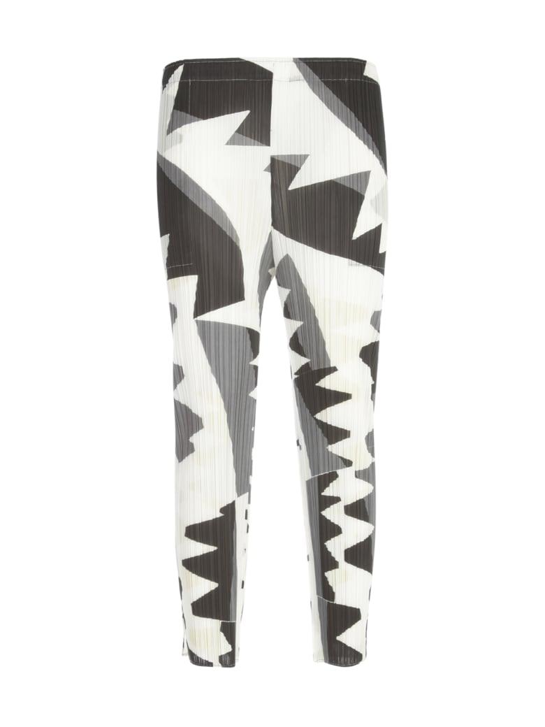 Pleats Please Issey Miyake Zigzag Slim Pants - Monochrome
