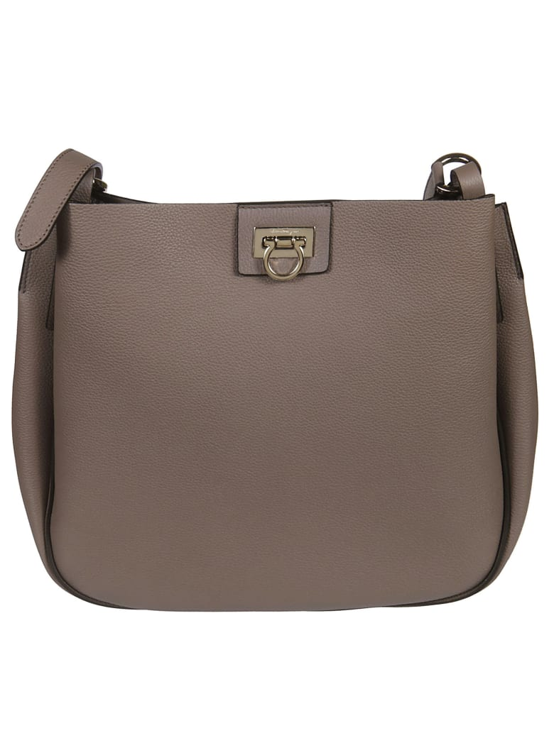 Salvatore Ferragamo Reverse Shoulder Bag - taupe