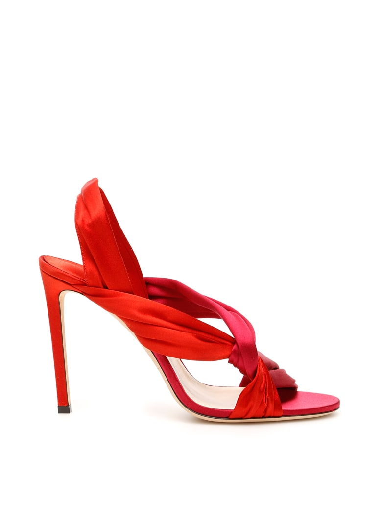 Jimmy Choo Lalia Sandals 100 - CHILLY MIX (Red)