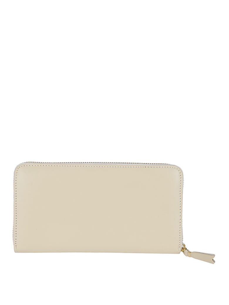 Comme des Garçons Wallet Off White Leather Wallet - White