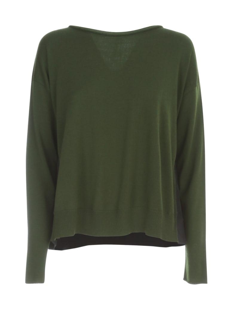 PierAntonioGaspari Pleated L/s Sweater W/inserts - Prato