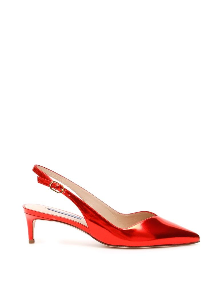 Stuart Weitzman Edith Slingbacks - FOLLOW ME RED (Red)
