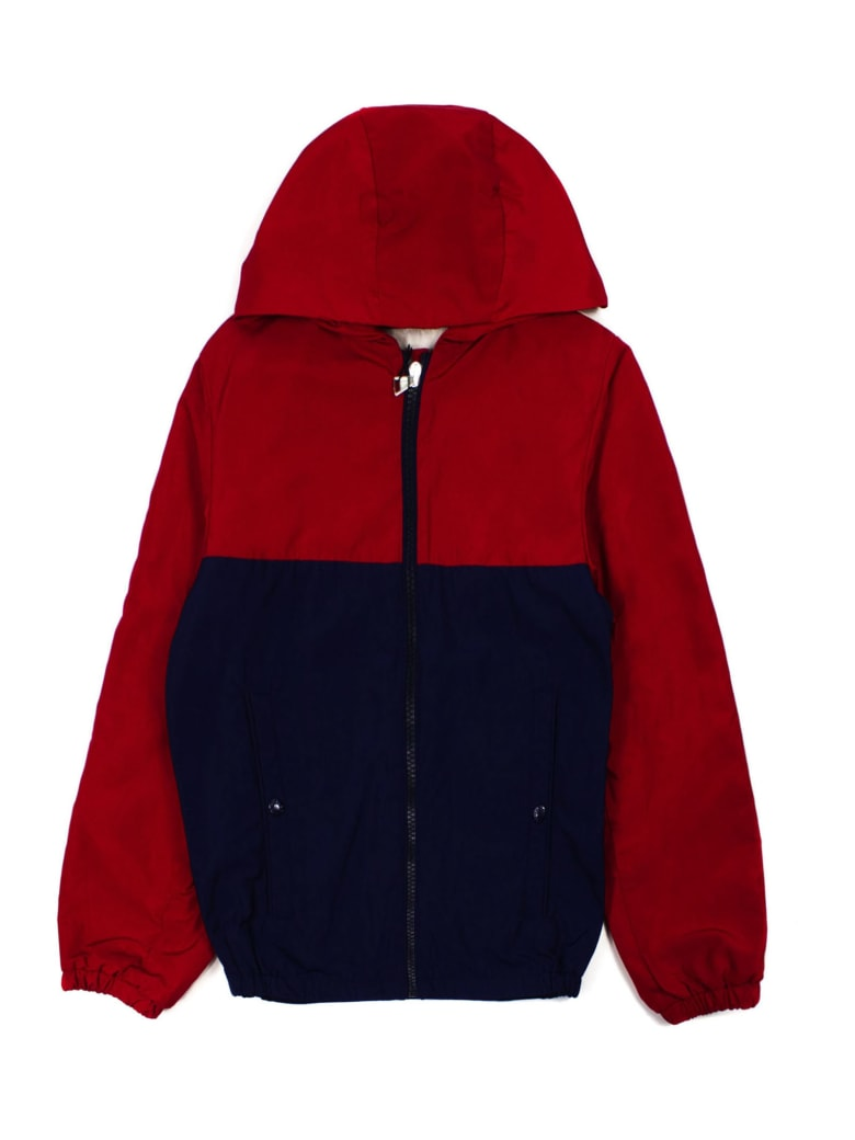 Moncler Red And Navy Jacket - Rosso+blu