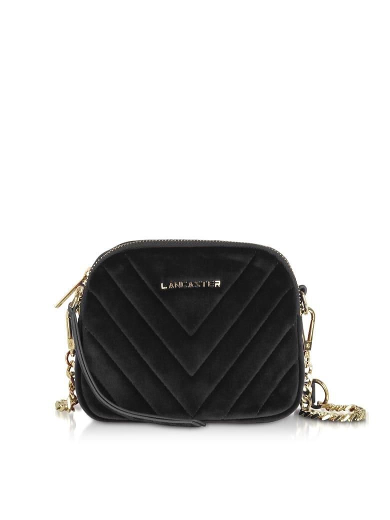 Lancaster Paris Quilted Velvet Couture Mini Camera/belt Bag - Black