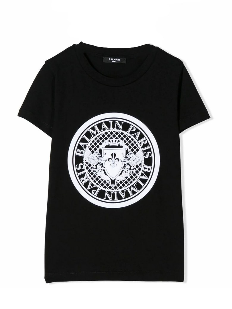 Balmain Black Cotton T-shirt - Nero