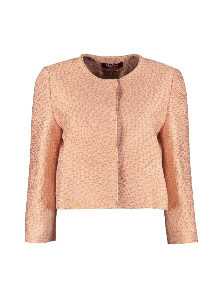 Max Mara Studio Samara Brocade Jacket - Salmon pink