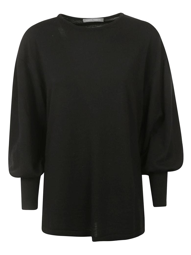 Alberta Ferretti Wide Sleeve Sweater - Black