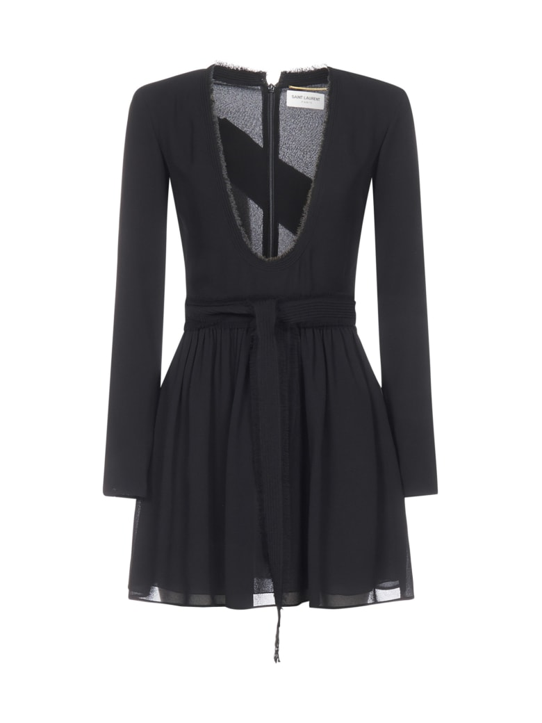 Saint Laurent Ls Dress - Noir
