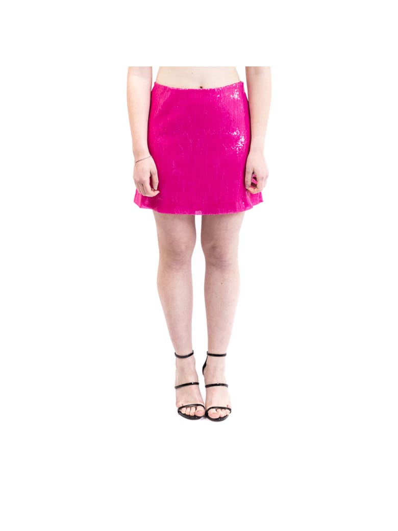 Alberta Ferretti Sequined Mini Skirt - FUCHSIA