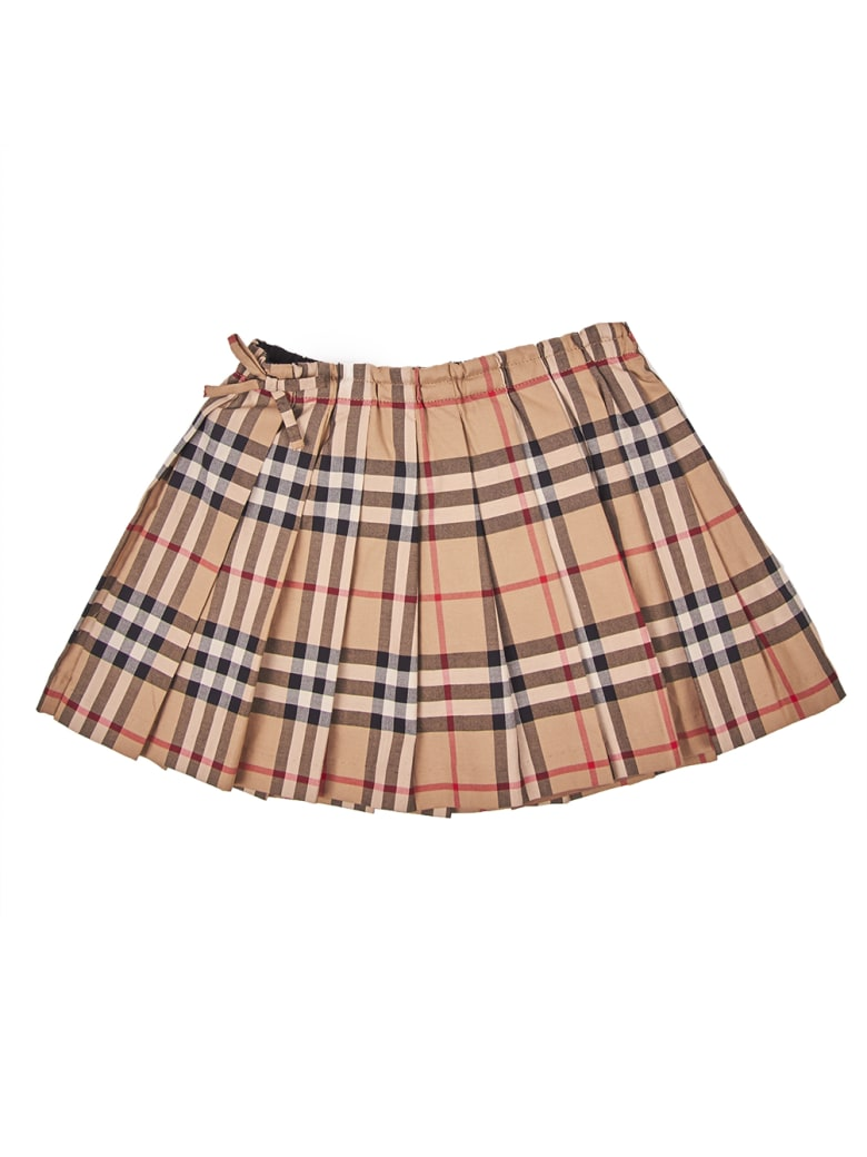 Burberry Mini Pearly Check Skirt - Archive Beige Ip Chk