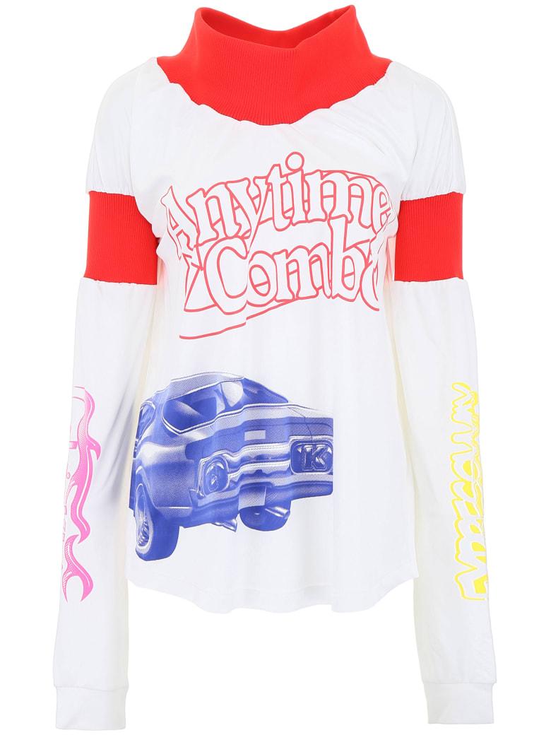 Calvin Klein Modernist Print T-shirt - WHITE RED (White)