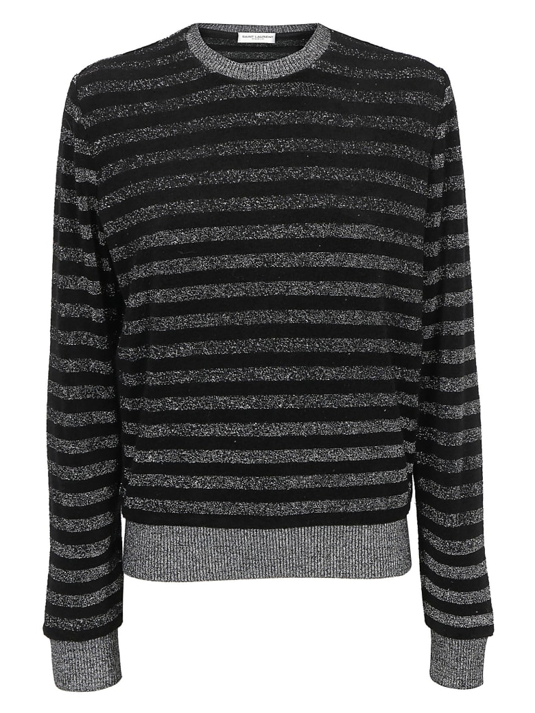Saint Laurent Sweatshirt - Noir/argent