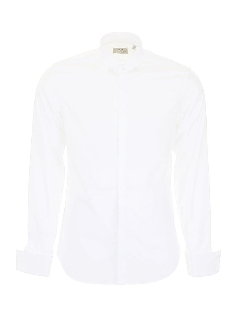CC Collection Corneliani Shirt With Wing Collar - BIANCO OTTICO (White)