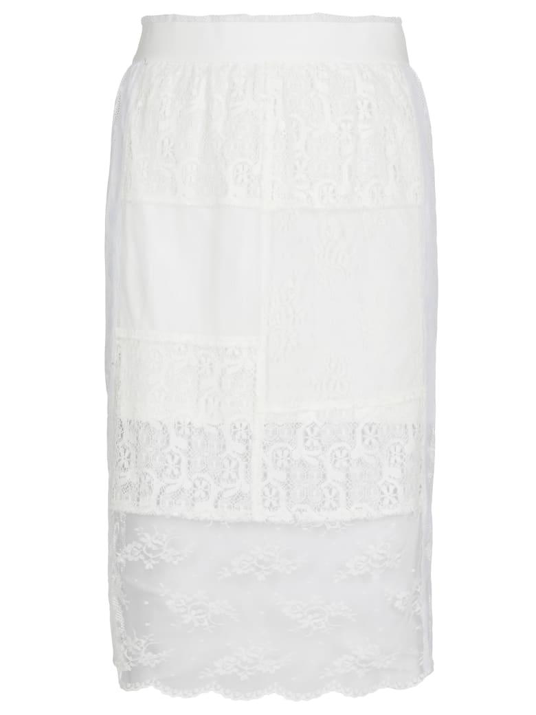 McQ Alexander McQueen Laces Skirt - WHITE/CREAM