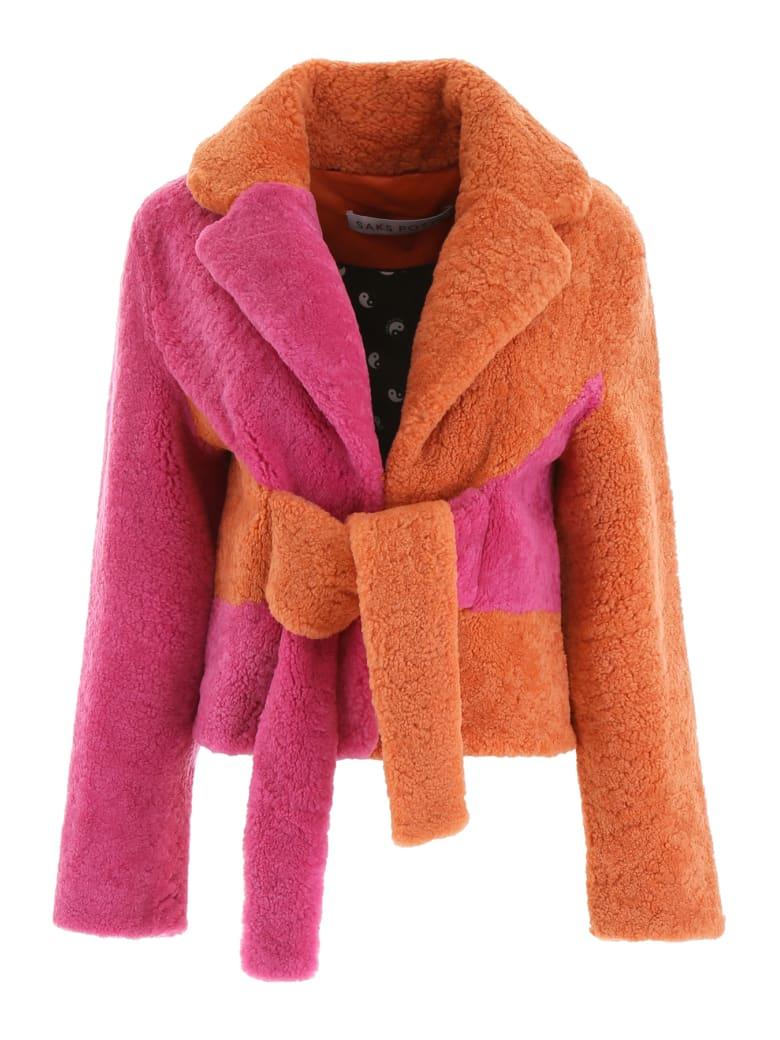 Saks Potts Wrapis Jacket - ORANGE PINK (Orange)