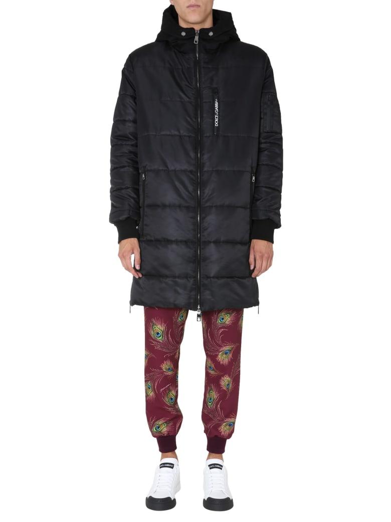 Dolce & Gabbana Nylon Down Jacket - Nero