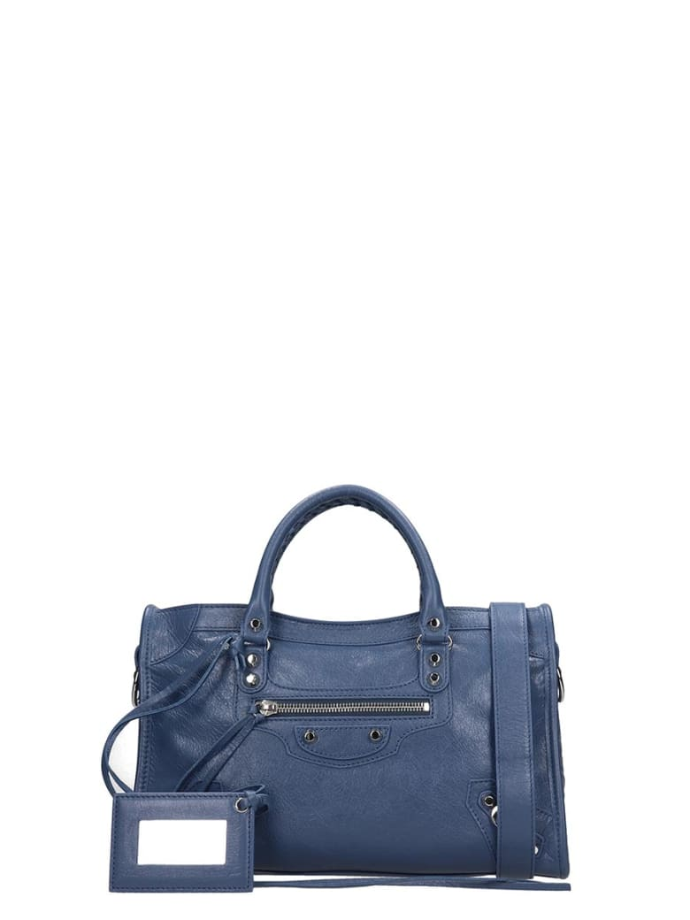 Balenciaga Class City S Aj Shoulder Bag In Blue Leather - blue