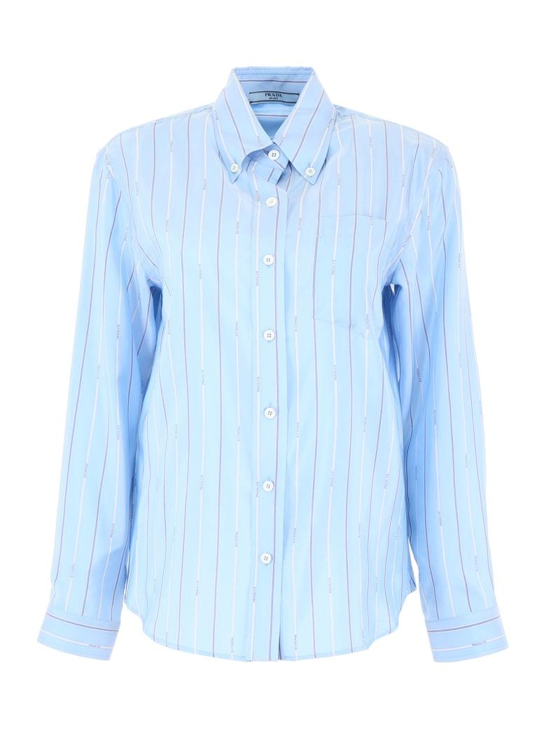 Prada Micro Logo Shirt - CELESTE (Light blue)