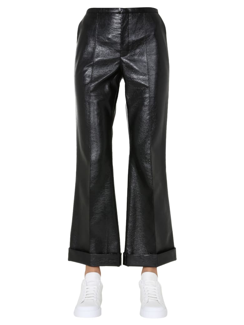 Philosophy di Lorenzo Serafini Faux Leather Pants - NERO