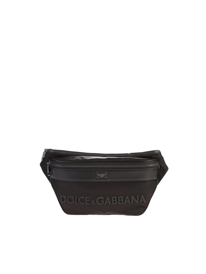 Dolce & Gabbana Branded Belt Bag - Nero