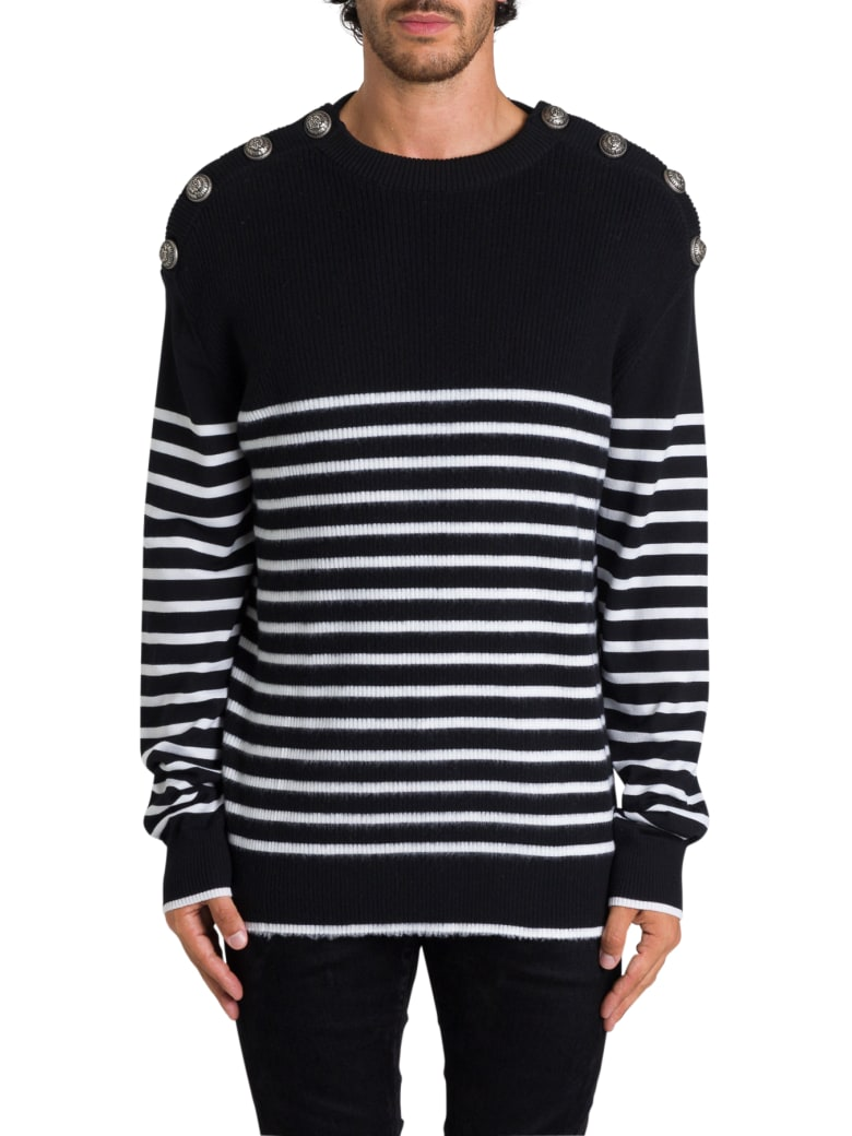 Balmain Sailor Sweater - Nero/bianco