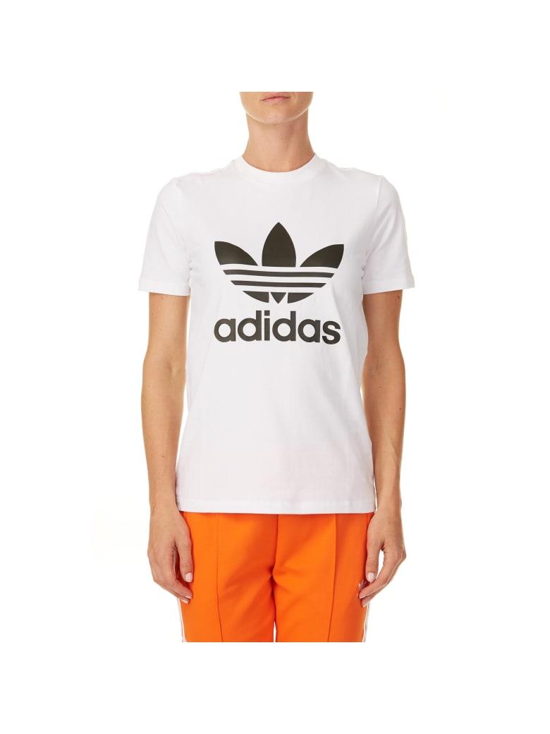 Adidas Trefoil Stretch Cotton T-shirt - WHITE