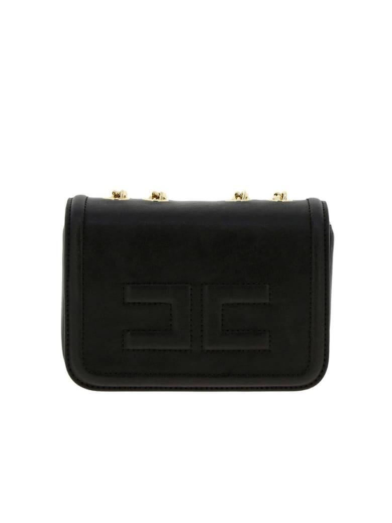 Elisabetta Franchi Celyn B. Elisabetta Franchi Mini Bag Elisabetta Franchi Mini Shoulder Bag In Synthetic Leather With Logo - black