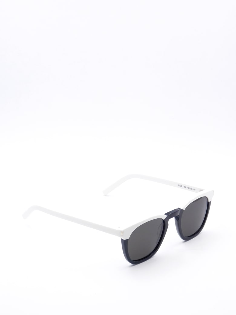 Saint Laurent SL 28 Sunglasses - Black Ivory Grey