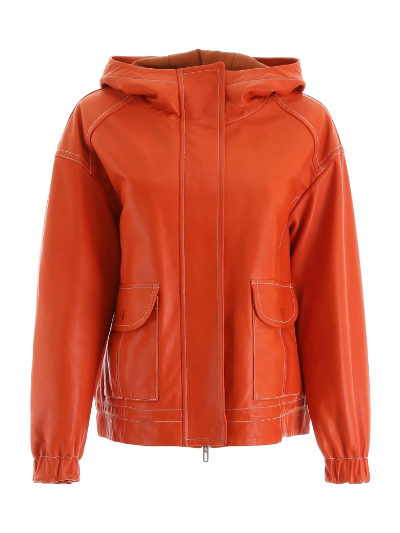 DROMe Hooded Jacket - FIRE OPAL (Orange)