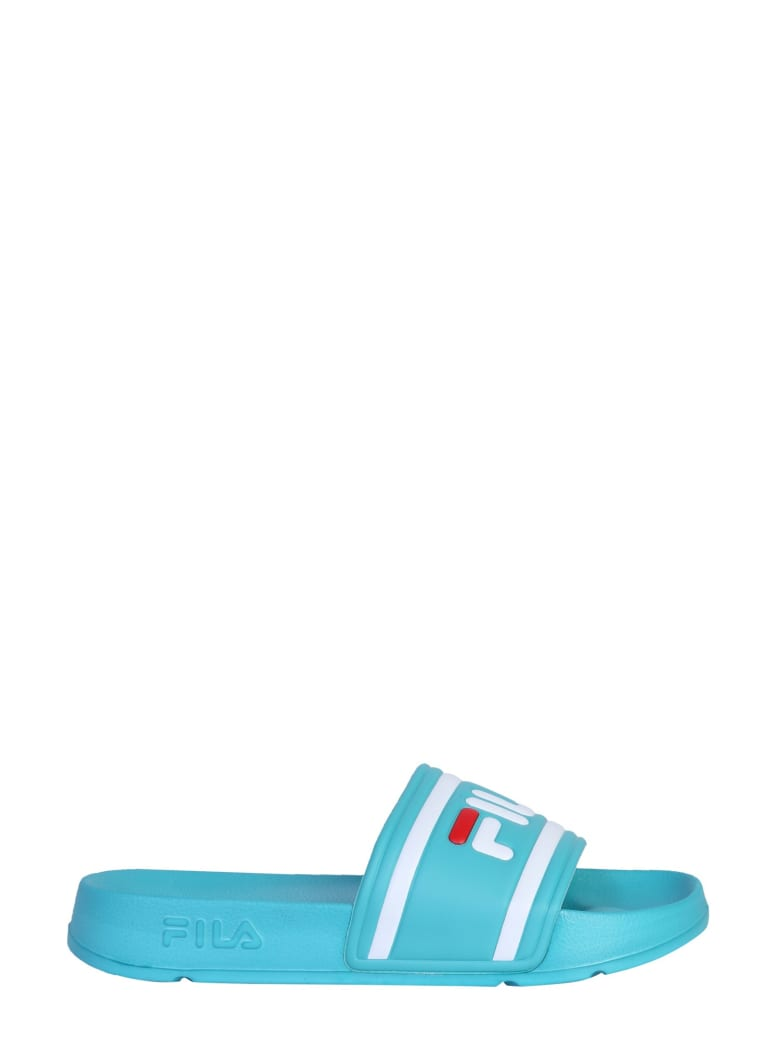 Fila Slide Sandal With Logo - BLU