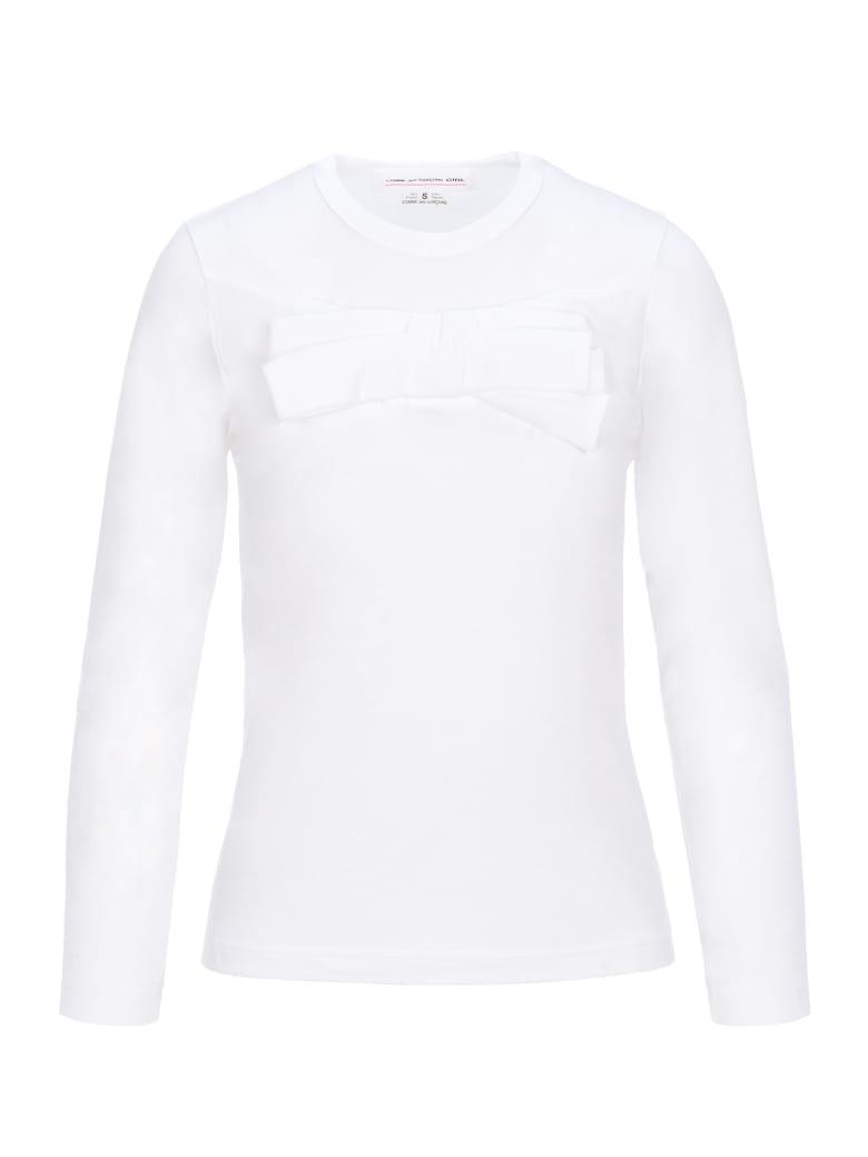 Comme Des Garçons Girl Comme Des Garçons Girl - Longsleeved Sweatshirt - WHITE