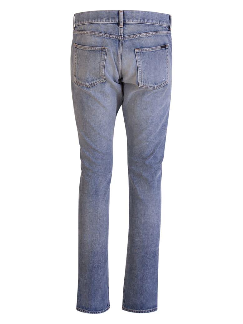 Saint Laurent Santa Monica Blue Slim Jeans - Blu Denim