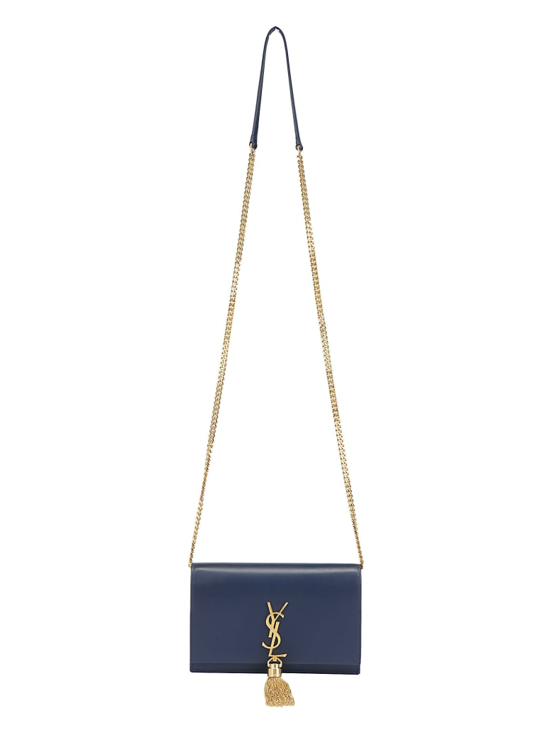 Saint Laurent Kate Monogram Chain Wallet - New cobalt