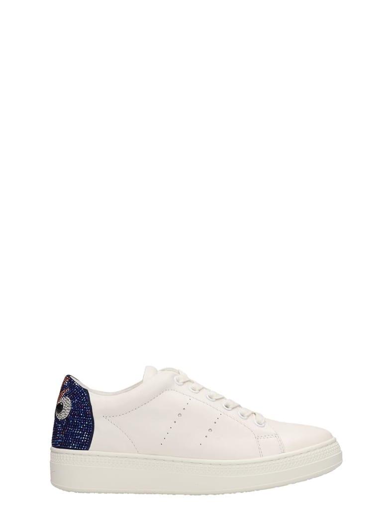 Lola Cruz White Leather Sneakers - white