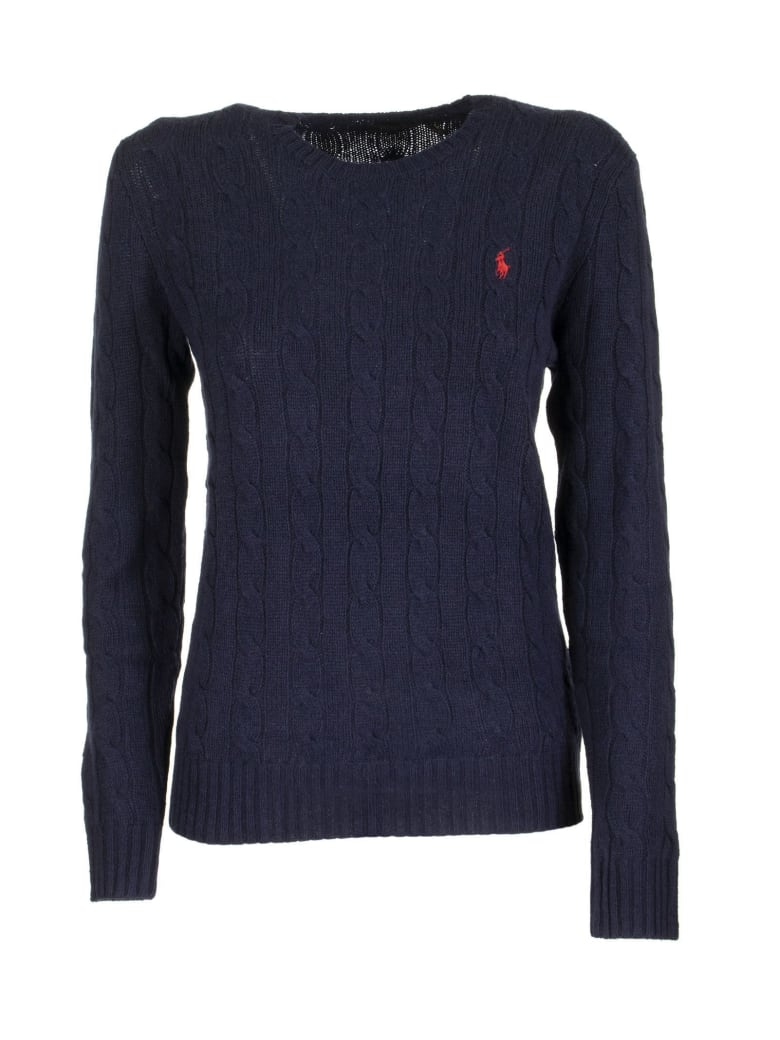 Ralph Lauren Cable Knit Wool And Cashmere Sweater - Blue
