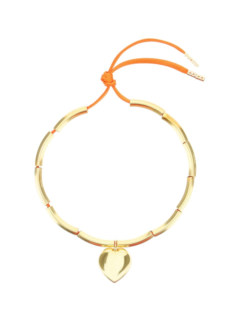Timeless Pearly Heart Choker Necklace - GOLD (Gold)