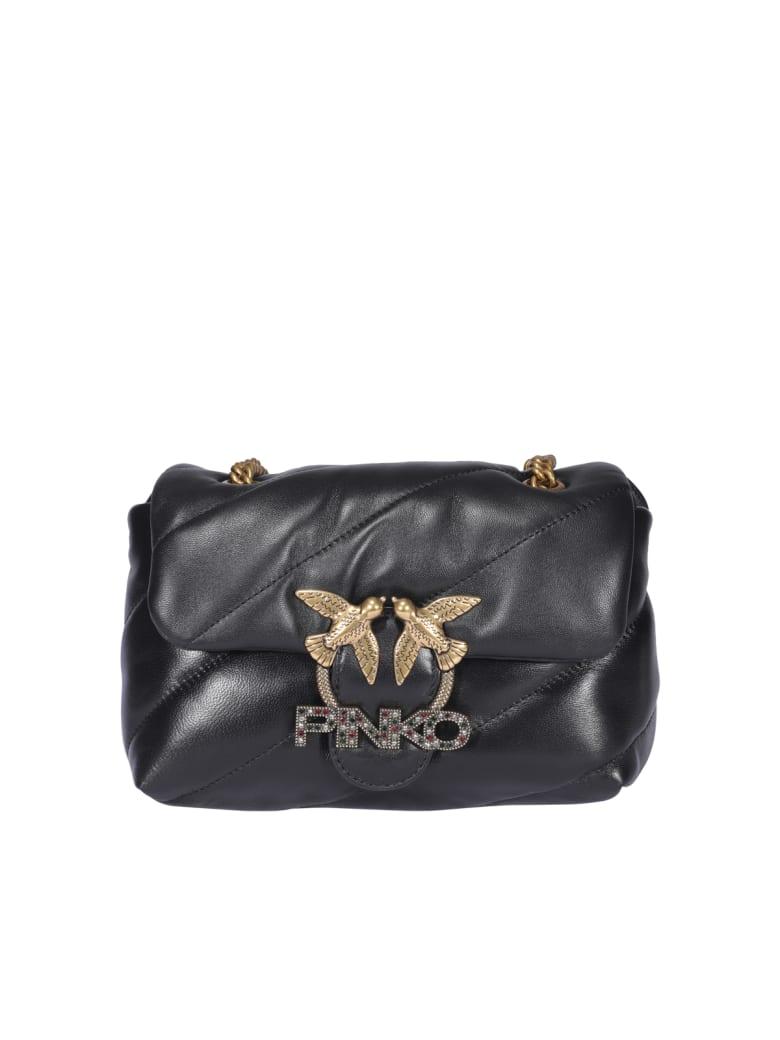 Pinko Love Mini Puffer Jewel Bag - Black
