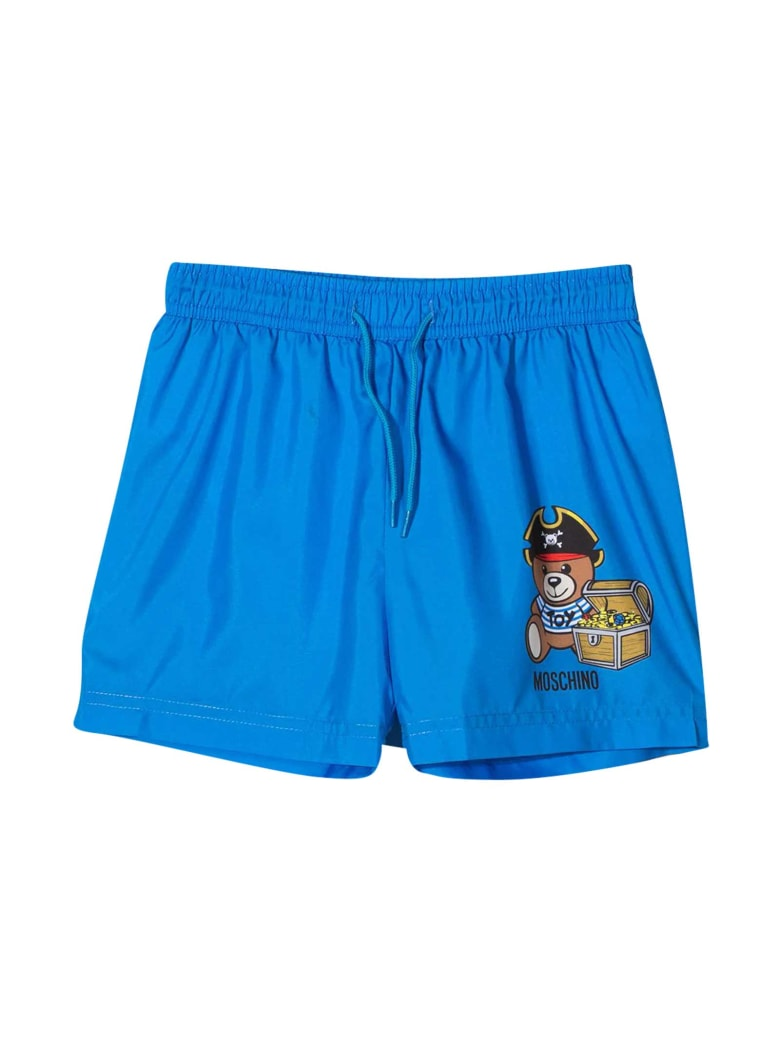 Moschino Swimsuit With Print - Blu