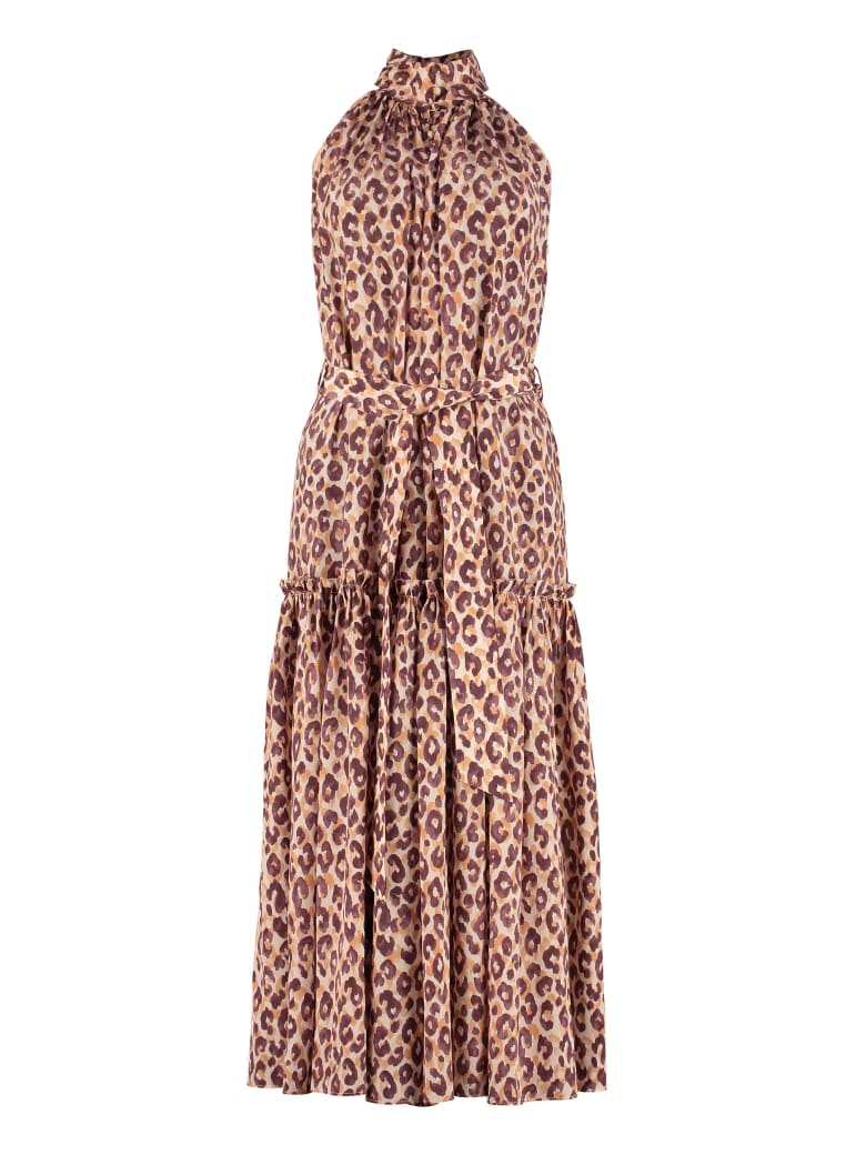 Zimmermann Leopard-print Silk Long Dress - Multicolor