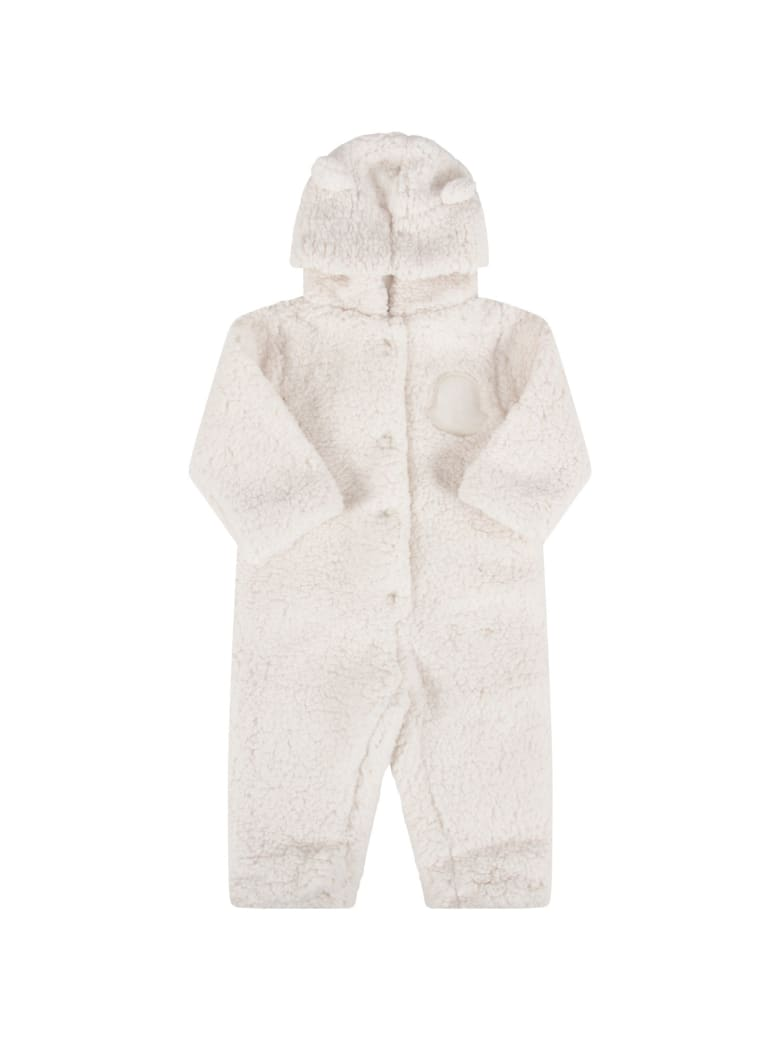 Moncler Ivory Bygrow For Babykids With Iconic Patch